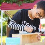 ご報告。ミニりんご木箱作りワークショップ「クラフト小径2017」