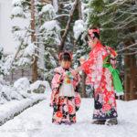 「雪の七五三ロケフォト撮影」2017年12月岩木山神社